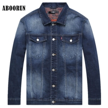 2eb984c5dc6d4 ABOORUN Plus Size 6XL Denim Jacket Men Casual Washed Jeans Jacket for Big  Tall P9066