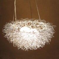 Bird nest eggs lamps creative pendant lights Silver / Golden Living room bedroom study bar alu pendant lamps g4x3 ZA