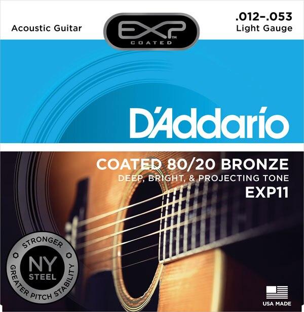 D'Addario EXP gecoate 80/20 Bronze akoestische gitaarsnaren, EXP10 - Muziekinstrumenten - Foto 3