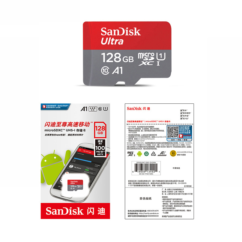 Image 5 - SanDisk Ultra 32gb micro SD Card 64gb Memory Card 128gb microSD 256gb TF card UHS I Card for smartphones cartao de memoria A1-in Micro SD Cards from Computer & Office