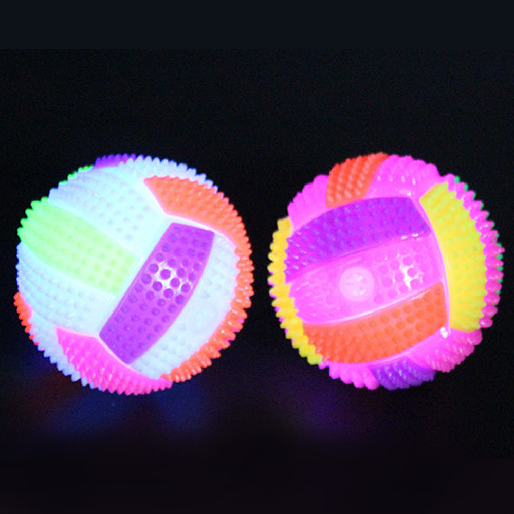 2017 # Random Color LED Volleyball Flashing Light Up Bouncing Hedgehog Ball Kids Toy Color Chang