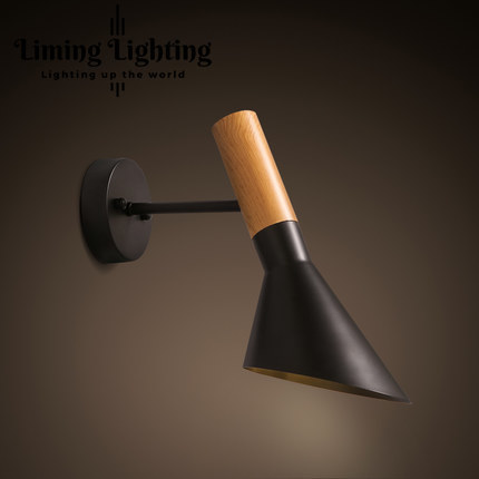 Loft Style Wood Vintage Wall Light Fixture Replica Modern Vintage Arne Jacobsen LED Wall Sconce Bedside Wall Lamp Home Lighting replica designer lighting popular hotsale cheap bestlite bl7 wall lamp 8065l