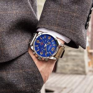 Image 5 - CURREN New Mens Watches Top Brand Men Military Sport Wristwatch Male Leather Chronograph Quartz Clock Relogio Masculino