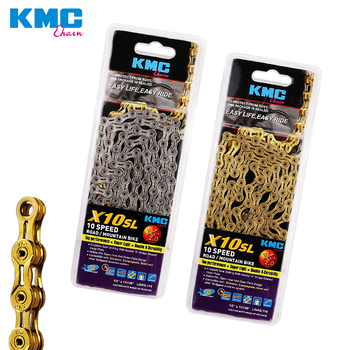 KMC X10-SL ultralight chain 10 speed 10s silver and gold for mtb road bike contain missing-link bicycle parts cycling accessory