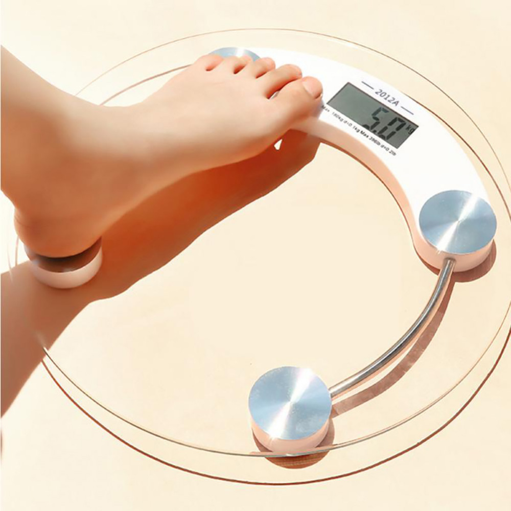 Bathroom Scale Body Smart Electric Digital Health Balance Body Weight Scale Toughened Glass LCD Display 5-150kg