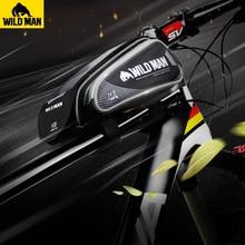 Дикий человек велосипед мешок Водонепроницаемый 6,2 «Сенсорный экран мобильного телефона сумка Велоспорт передней верхней трубы рамы мешок мобильного телефона велосипед аксессуар