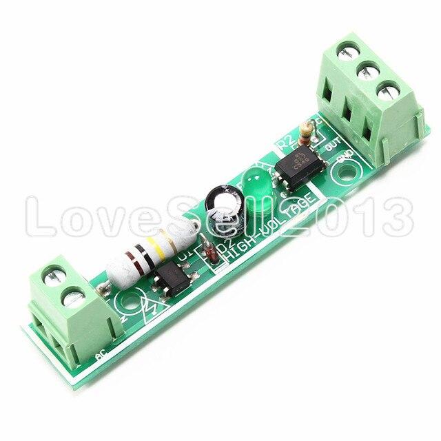 Module d'isolement optocoupleur AC 220 V 1-Bit carte de détection de tension adaptative 3-5 V pour Module PLC Isolamento Fotoaccoppiatore