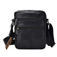Men's Shoulder Bag Business Men's Genuine Leather Bag Male Small Crossbody Bags for Men Messenger Bag Men Leather Handbags