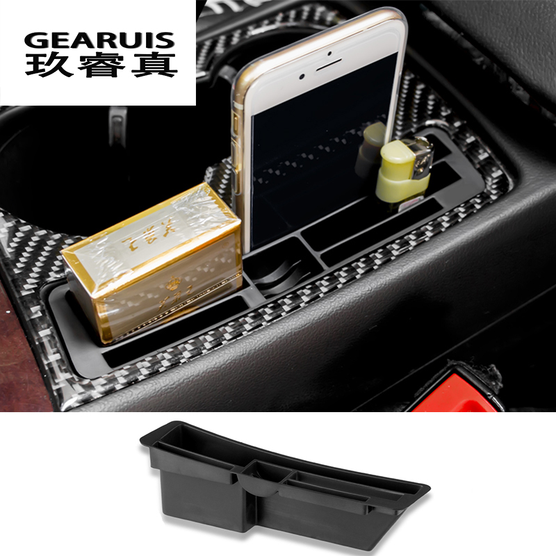 For Audi A4 A5 S4 B8 Car Armrest Console Center Card Slot Key Box Coin Organiser