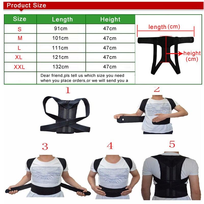 Adjustable Posture Corset for Men Lumbar Support Belt Strap Men's Back Back Corset Brace Belt HEALTH CARE Orthopedic Pain Relief 4