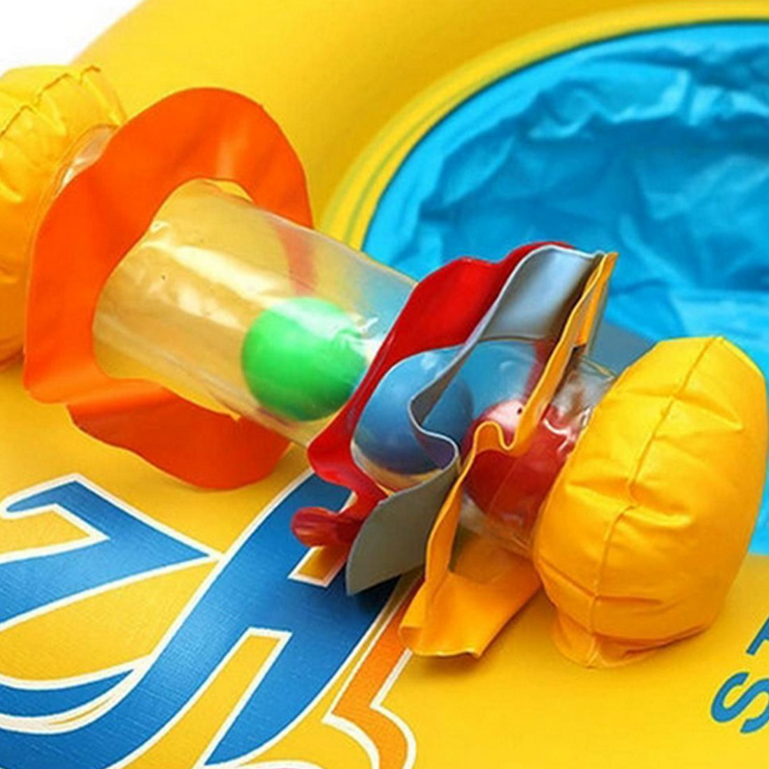 Seat Circle Double Baby Swimming Ring Inflatable Floats Bathtub Pool Toy Bathing Inflatable Double Raft Rings Toy