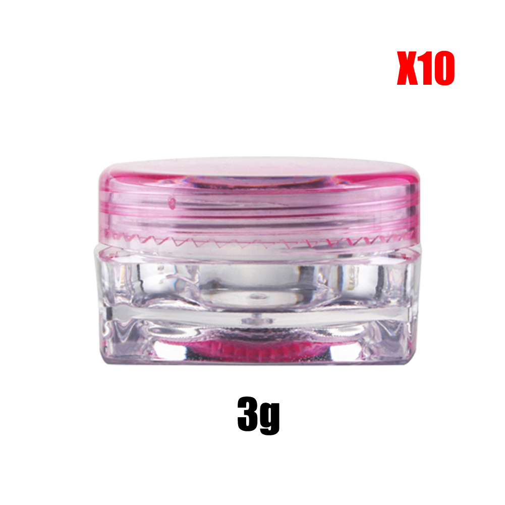 WX Wholesale 10PCS/lot Mini 3g Jars Tubs Pots Small Plastic Sample ...
