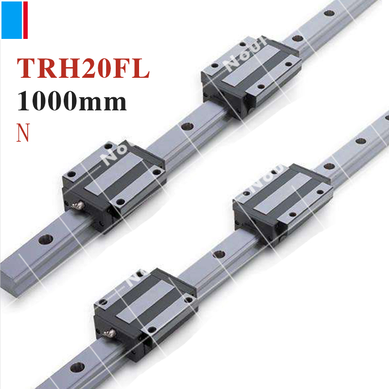 TBI CNC sets TBIMOTION TR20N 1000mm linear guide rail with TRH20FL slide blocks stainless steel High efficiency винт tbi sfkr 0802t3d