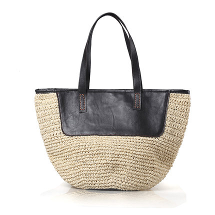 47x29cm Summer Section Straw Bag Wind Simple Holiday Handbag Shoulder Bag A2971 Luggage & Bags