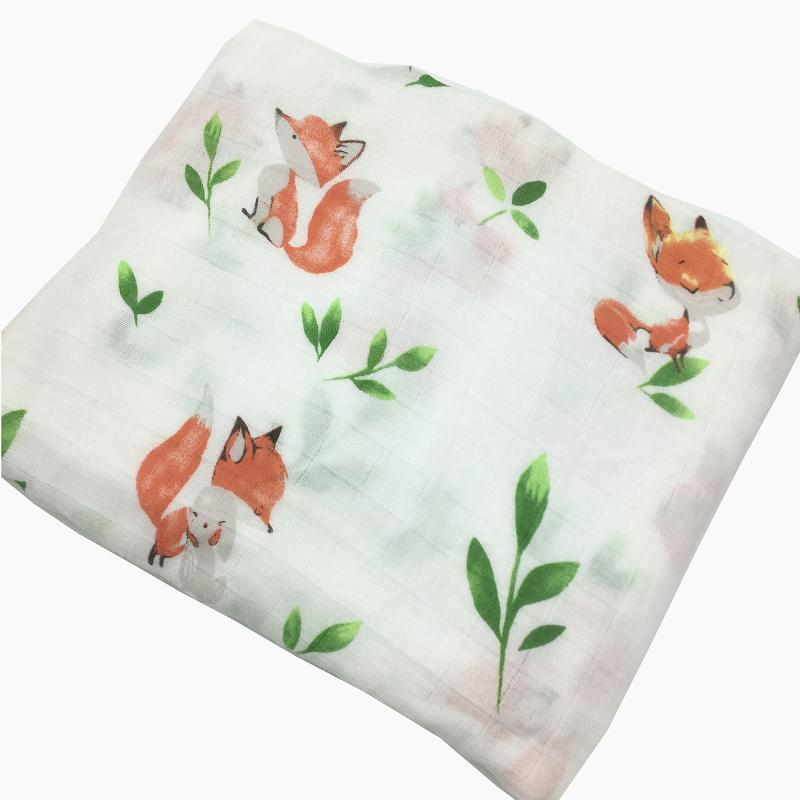 INS Hot 70% Bamboo Fiber 30% Cotton Baby Blanket Bedding Swaddle Wrap Gauze Muslin Blankets Soft Breathable For Newborn | Happy Baby Mama