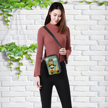 Customized Women Messenger Bags Flap Bag Lady Canvas Cartoon Owl Printed Crossbody Shoulder Small Female Handbags child bag