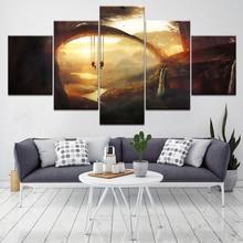 Unreal landscape 5 Piece Wall Art Canvas Print modern Poster Modular art painting for Living Room Home Decor цены