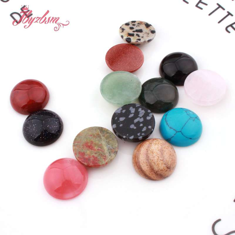 Calvas Fashion hot Selling Gold Sand Stone Round cab cabochon Beads for Jewelry Accessories 8mm Wholesale 50pcs//lot Free