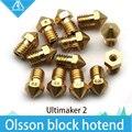 ГОРЯЧАЯ! 4 ШТ. 3D принтер Ultimaker 2 + UM2 + Расширенный нагреватель hotend Олссон блок сопла (не включают в себя нагреватель блока) для 1.75/3.0 ММ