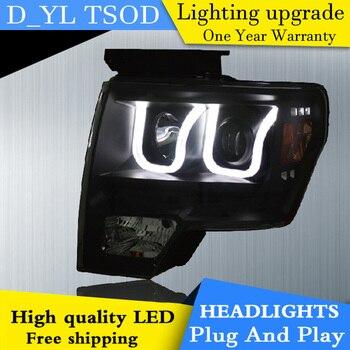 Car Styling Headlights for Ford F150 2009-2011 LED Headlight for F150 Head Lamp LED Daytime Running Light LED DRL Bi-Xenon HID