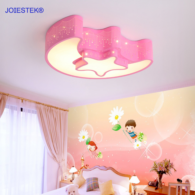 Lovely Cartoon star Modern LED Ceiling Light Kids Lamp for Living ...