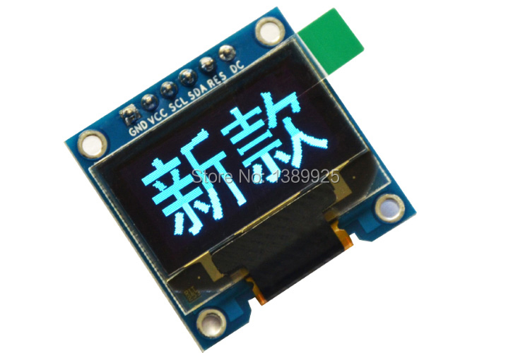6pin 20PCS/Lot 0.96″Blue OLED module 0.96 OLED New 128X64 OLED LCD LED Display Module For Arduino 0.96″ I2C IIC SPI Communicate