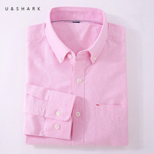 U&SHARK 2018 Men Casual Shirt Long Sleeve 100% Cotton Oxford Shirt Men Business Mens Dress Shirts Male Social Clothes Chemise