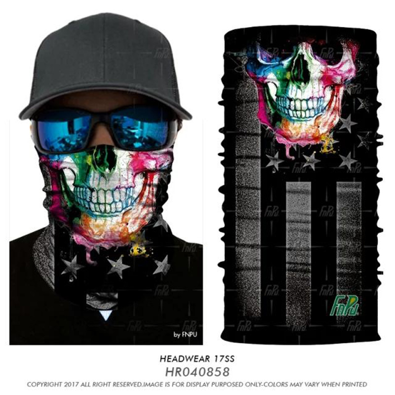 3D Magic Seamless Bandana Skull Flag Jokers Shield Neck Face Mask Scarf Military Outdoors Flag Bandanas Women 3D Headband Coif