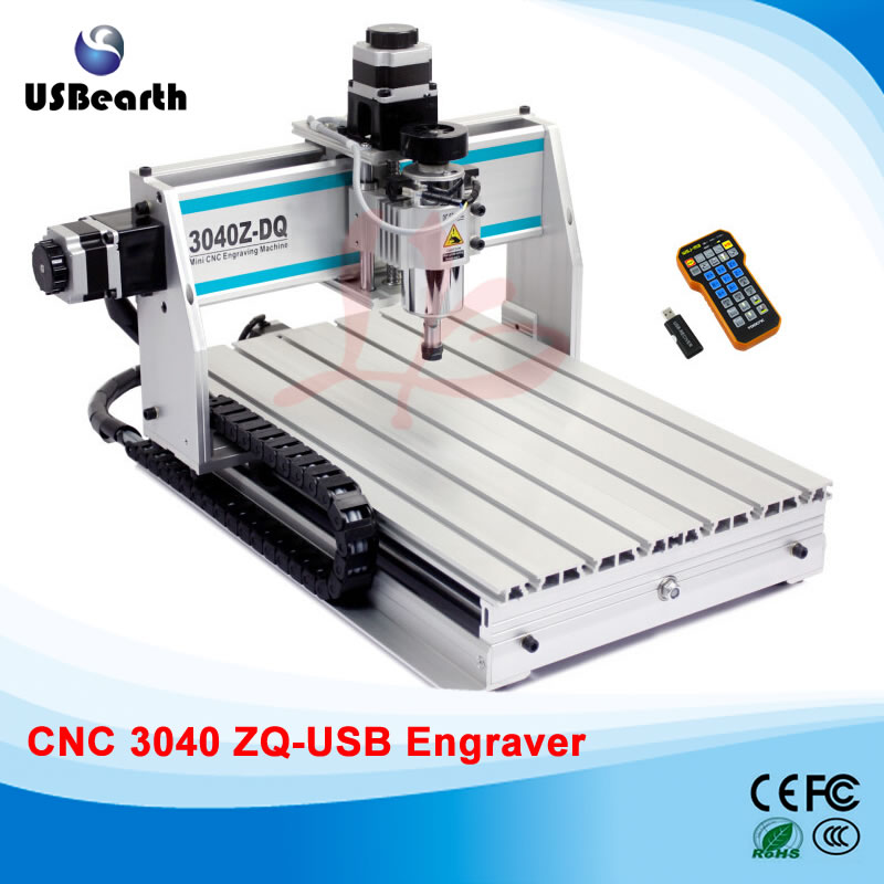 Mini cnc machine 3040ZQ-USB mach3 wood router cnc milling machine , free tax to EU countries eur free tax cnc router 4030z d300 3axis wood cnc milling machine for cutting wood acrylics mdf with usb parallel adapter