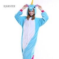 DJGRSTER Adults Winter Totoro Pajamas Flannel Panda Unicorn Giraffe Cat Onesies Christmas Pyjamas Kiguruma Fancy Cosplay