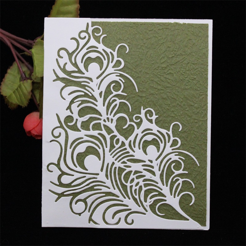 Feather Metal DIY Cutting Die Stencil Scrapbook Album Paper Card Emboss Craft ad