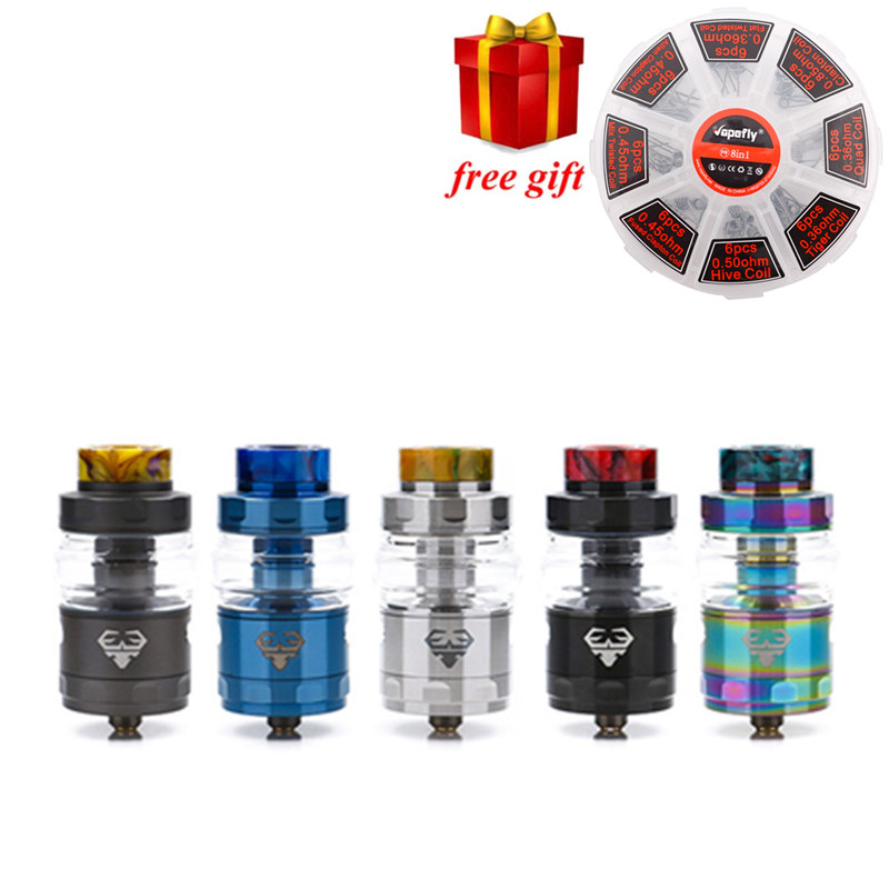 Free gift! GeekVape RTA Geekvape Blitzen RTA electronic cigarette atomizer postless build deck smooth airflow vs geekvape ammit