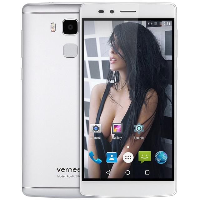 "Vernee Apollo Lite 4G Android 6.0 Mobilephone 5.5"" MTK6797 Deca Core 4GB 32GB 16.0MP Type-C Fingerprint ID Dual SIM Smartphone"