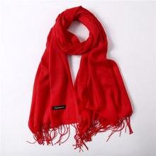 0acc134481b Rode Sjaal Klassieke Voorjaar/herfst Sjaals Vrouwen Dunne Sjaals en Wraps  Mode Effen Vrouwelijke Hijab