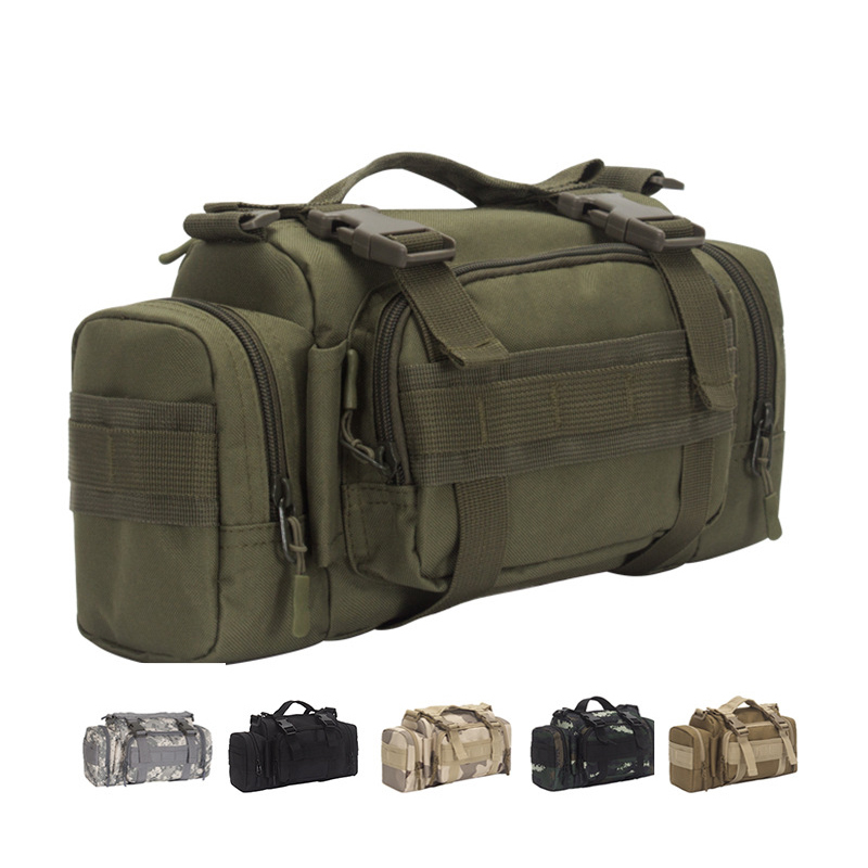 Outdoor Tactical 3P Bag Camouflage Magic Tactical Pocket Cycling Pockets Military Enthusiasts Hiking Adjustable Belt Camera Bag