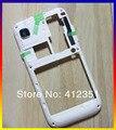 Blanco nuevo de reemplazo de vivienda marco medio caso de la cubierta para samsung galaxy sl i9003 envío gratis