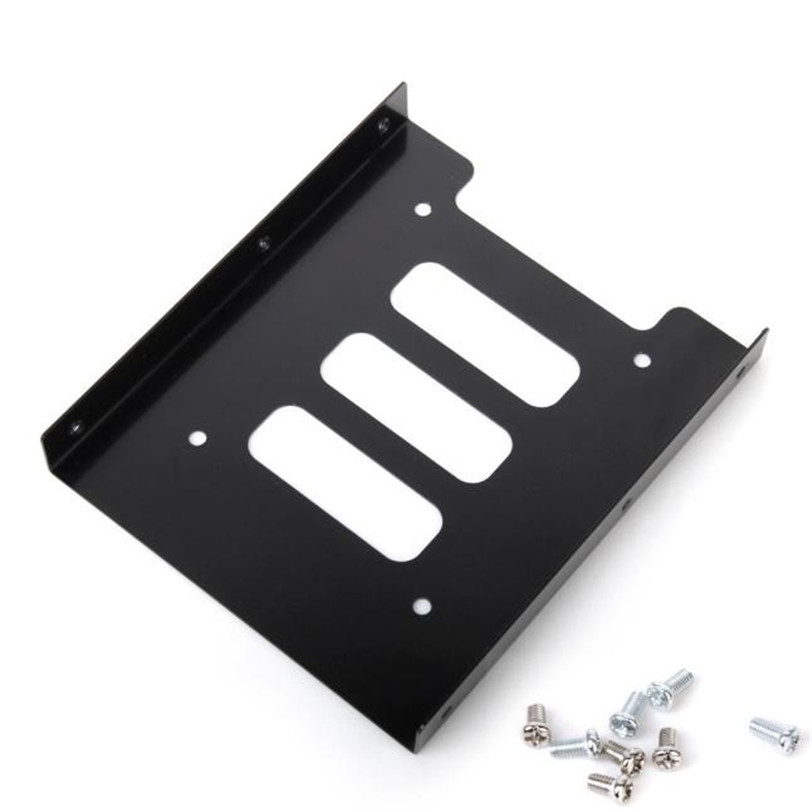 <font><b>2.5</b></font>'' <font><b>SSD</b></font> HDD To <font><b>3.5</b></font>'' Mounting Adapter Bracket Dock Hard Drive Holder For PC Jun12 Professional Factory Price Drop Shipping image