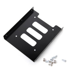 """2.5"""" SSD HDD To 3.5"""" Mounting Adapter Bracket Dock Hard Drive Holder For PC Jun12 Professional Factory Price Drop Shipping"""