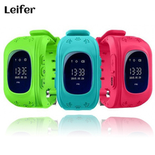 Leifer Q50 Kid Safe GPS Smart Baby Watch Locator Tracker Anti Lost Monitor Lovely Wristwatch Support Micro SIM card for Children