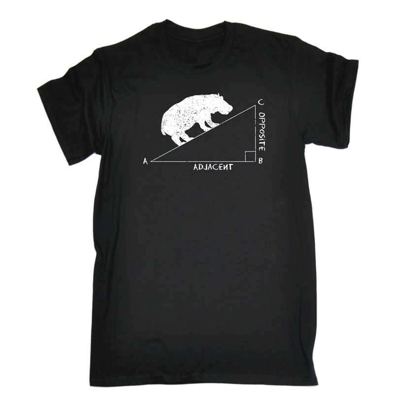 Fashion T Shirt Hipster Cool Tops S Hippo Angle Funny Joke Crew Neck Men Short Sleeve Tall T Shirt