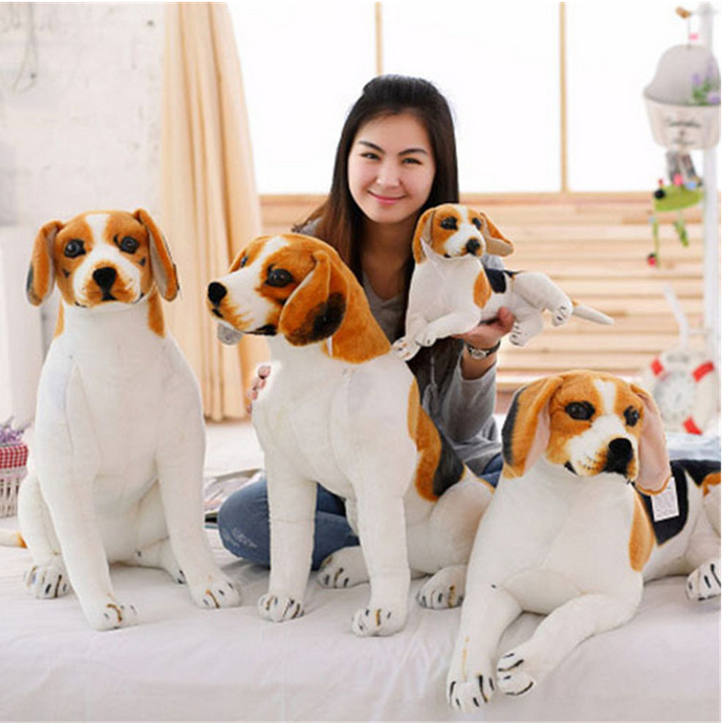 Fancytrader 35inches 90cm Lovely Large Animal Plush Dog Stuffed    Emulational Dog Simulator Toy Kids Gift 80cm large super cute plush toy dog bulldog husky shiba pug pillow down cotton filling as a gift to the children and friends