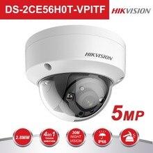 Hikvision 5MP TVI/AHD/CVI/CVBS переключатель 4 в 1 наблюдения аналоговый камера DS-2CE56H0T-VPITF 20 м ИК расстояние CCTV система камер