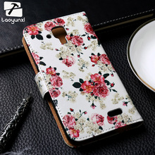 TAOYUNXI PU Leather Phone Case For Lenovo A536 A358T A 536 A606 A850 Cases Phone Flip Covers Painted  Holster Bags