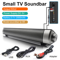 LP 08 Sound Bar Wireless Subwoof Bluetooth Speaker Enhanced Remote Control TV Soundbar Speaker Card Plugging