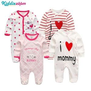 Image 5 - Conjunto de mamelucos Unisex de algodón supersuave para bebé, ropa de manga larga para recién nacido, infantil, 3/4/5 unidades