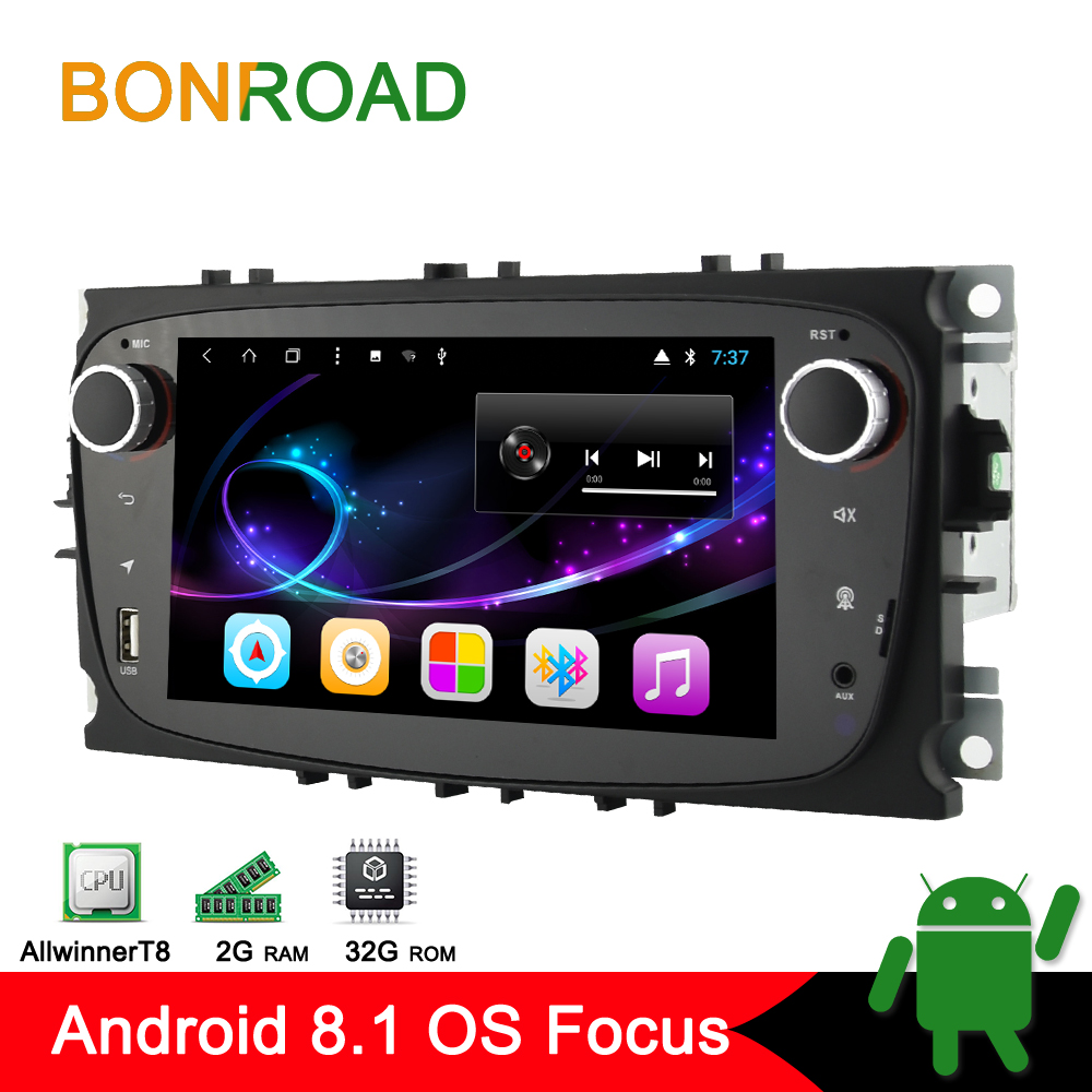 Bonroad 2 Din Android Car Multimedia Player For Ford Focus 2 Mondeo 4 S MAX C
