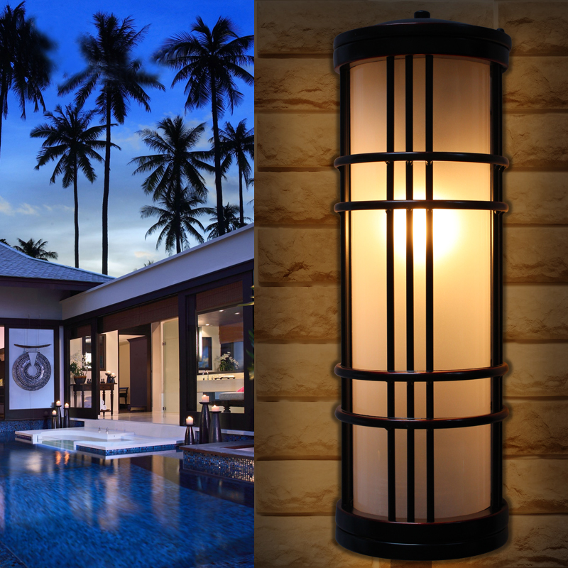 vintage outdoor wall lamp retro industrial style wall sconce aisle corridor wall lights waterproof frosted thick glass lighting clear glass cover outdoor retro wall light metal frame glass wall lamp lighting fixture aisle wall sconce