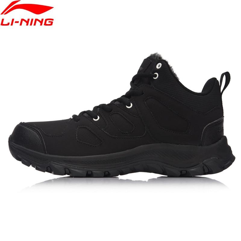 Li-Ning Hiking Boots Hi Men Hiking Shoes Classic WARM SHELL Walking Sneakers Winter Warm LiNing Sports Shoes AGCM189 YXB101 original li ning men professional basketball shoes