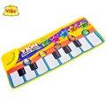 Бесплатная доставка YIQU русский игровой коврик детские музыкальные ковер ребенка фортепиано мат детские palymat для детей Головоломки танец коврик детская ковер