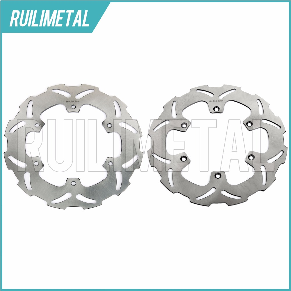Stainless Steel High Quality Full Set Front Rear Brake Discs Rotors for YAMAHA YZ 125 90 91 92 93 94 95 96 97 WR 250 1990-1997  new front rear brake discs disks rotors fit for yamaha dt r 125 dt125r dt 125 r 88 89 90 91 92 93 94 95 96 97 98 99 00 01 02 03